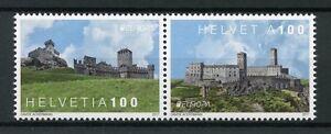 Switzerland-2017-MNH-Europa-Castles-2v-Set-Architecture-Tourism-Stamps