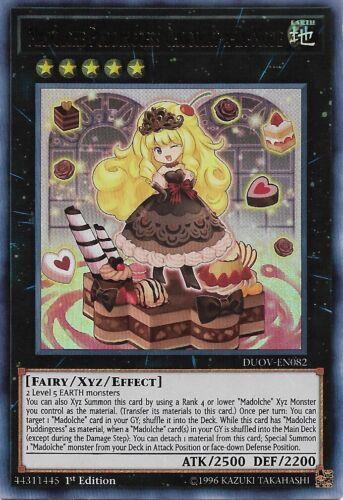 DUOV-EN082 Madolche Puddingcess Chocolat-a-la-Mode Ultra Rare 1st Edition Yu-Gi
