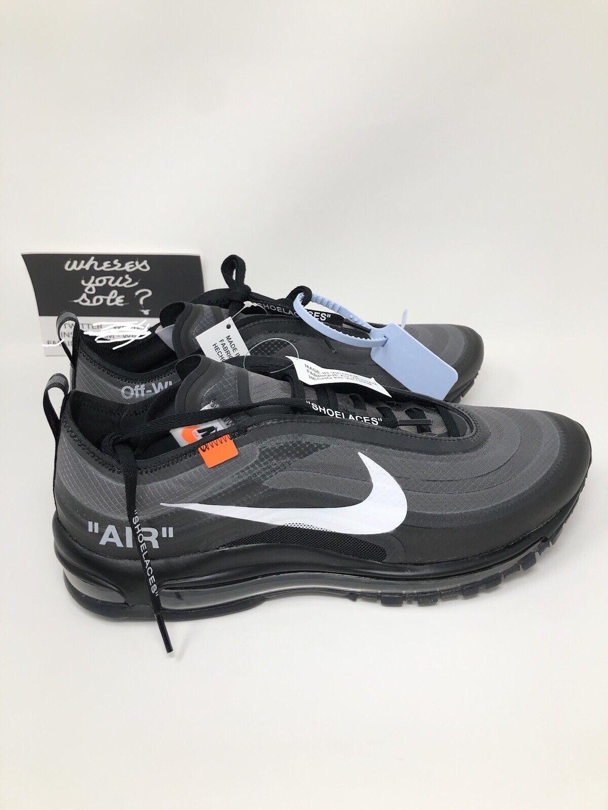 Nike Off White The Ten  Air Max 97 OG Black size 10.5 New DS AJ4585-001 Virgil