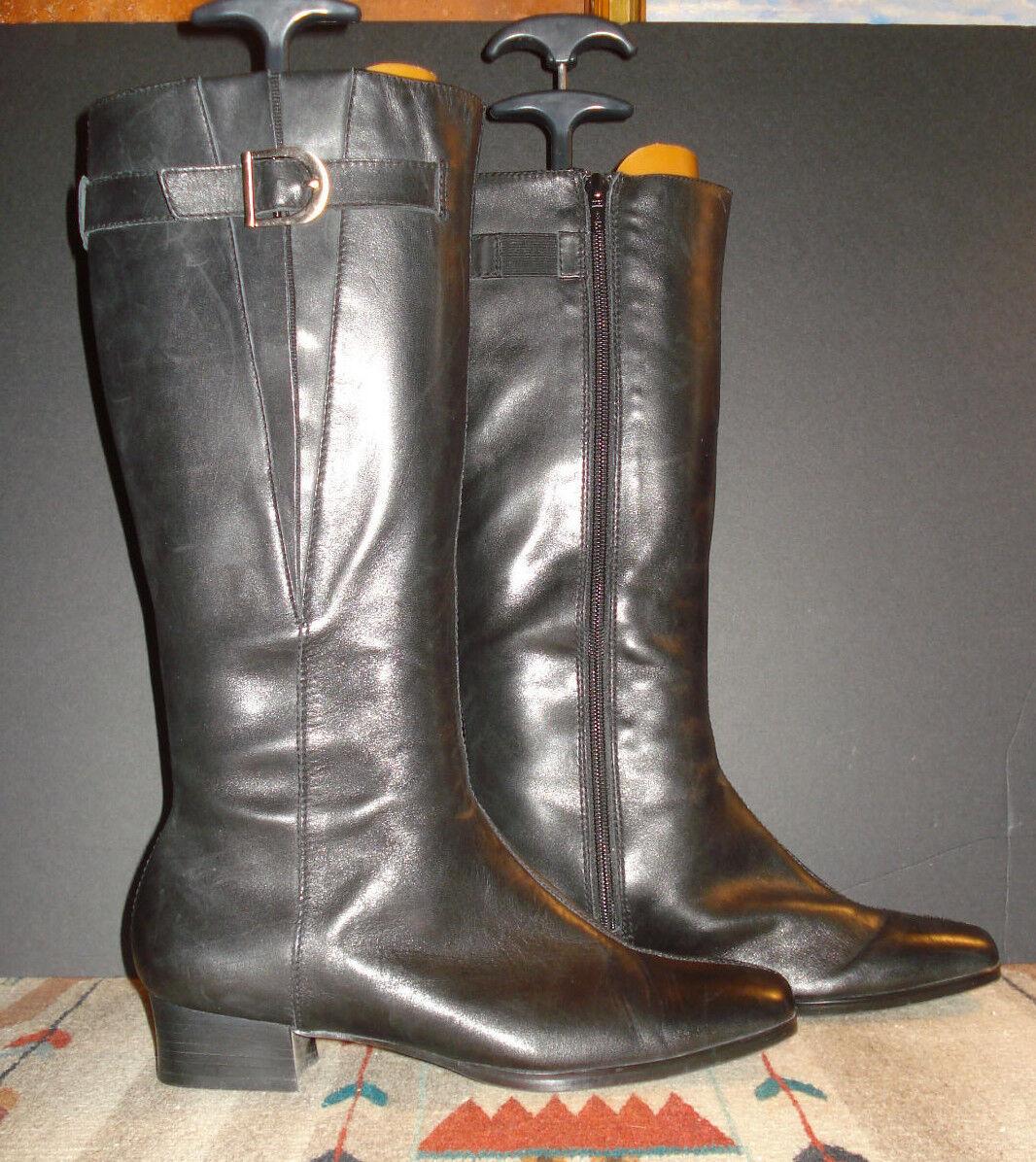Tredters Black Leather Side Zip Split Toe Field Boot Size 8.5M EXCELLENT