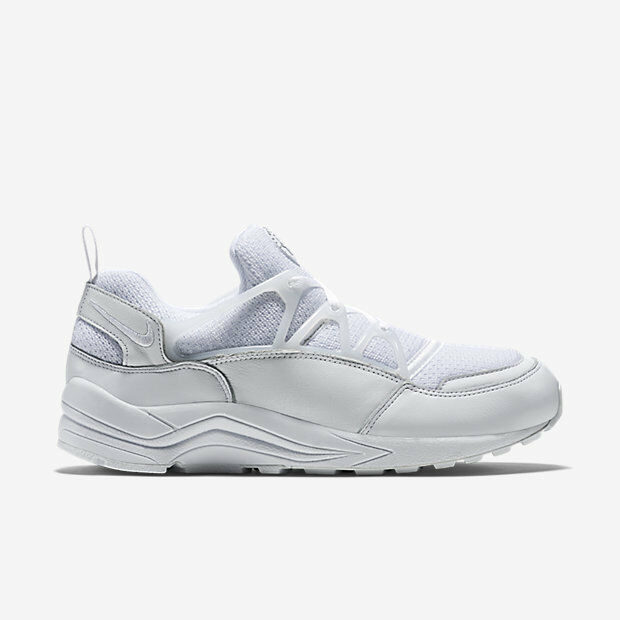 Mens Nike Air Huarache Light - 306127 111 - Triple White Trainers