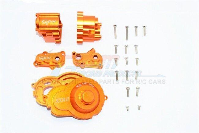 GPM SCX2038 Aluminum Center Gear Box & Spur Gear Cover Set For Axial SCX10 II