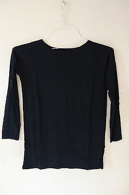 M L NWOT Authentic PIKO GIRL Long  Sleeve Top Bamboo BlueTunic GT0851 Size S