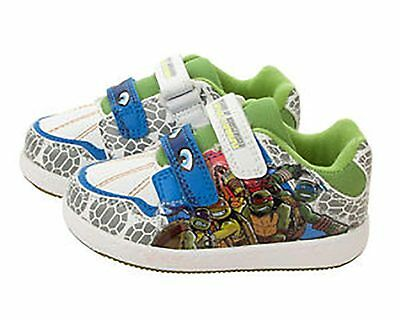 BOYS GREEN TEENAGE MUTANT NINJA TURTLES TRAINER CASUAL SHOE SIZES 7-1