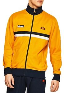 fb52509ea8 Details about ellesse Mens Retro Avidor Track Jacket Zip Up Polyester Sweat  Top Cadium Yellow