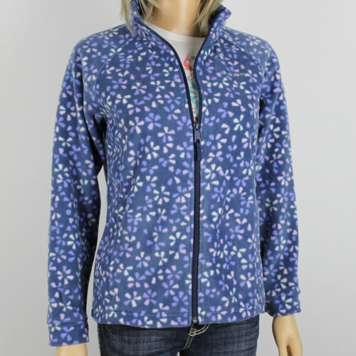 "New Columbia Girls /""Benton Springs/"" Full Zip Printed Fleece Jacket Sweaters"