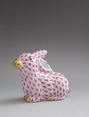 Herend Lying Bunny Rabbit Raspberry Pink Fishnet 15569