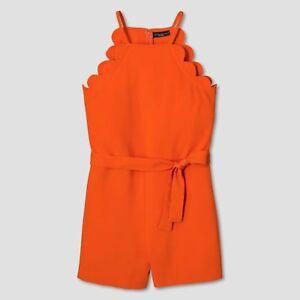 86f851fa5f1f Image is loading NWT-Victoria-Beckham-Women-039-s-Orange-Scallop-