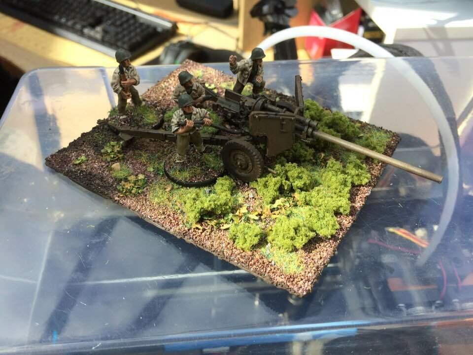 US M5 anti Tanque pistola y la tripulación, por Warlord Juegos, Perno Acción, pro Pintado A Pedido