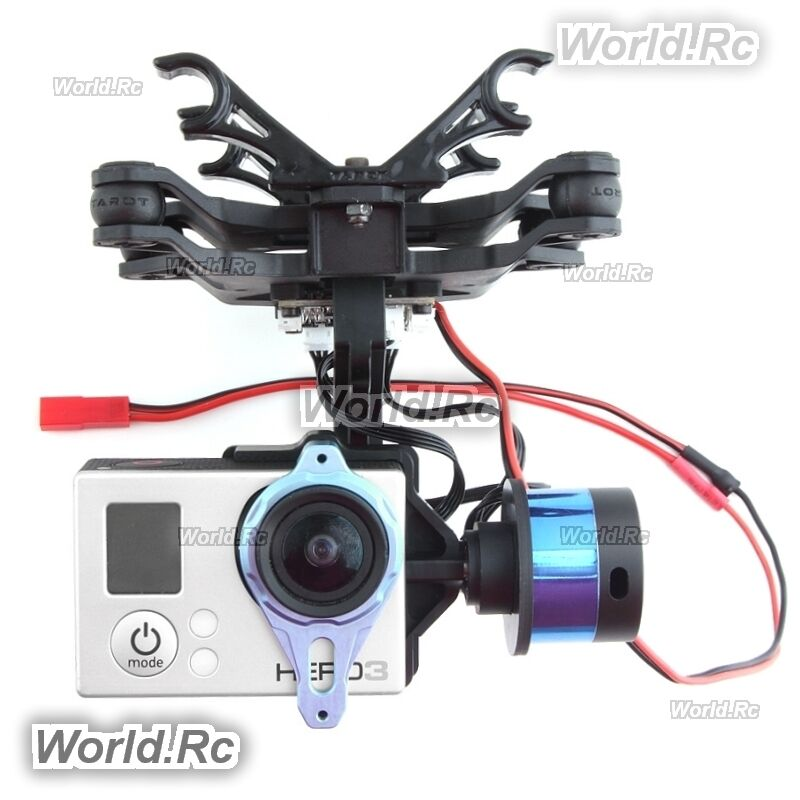 Tared T-2D for Gopro 3 4 2-axis Brushless Gimbal W ZYX22 V2 FPV aerial photo