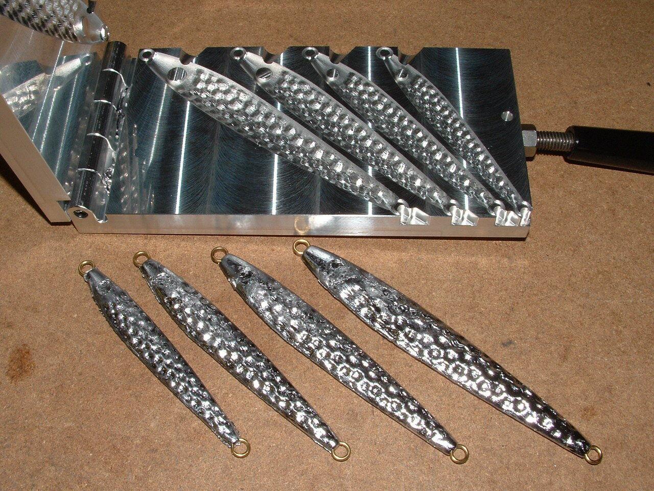 Peces De Agua Salada Jig llenos de baches Molde 2,3,4,6oz CNC Aluminio