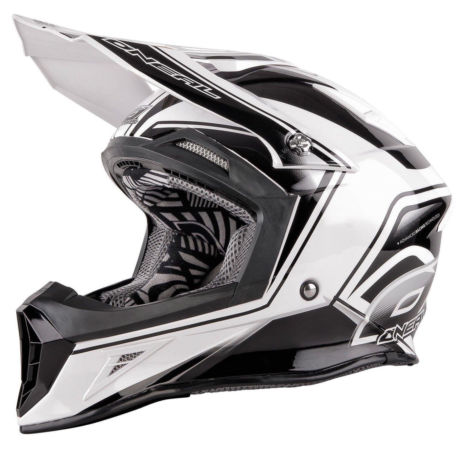 ONeal 10Series MX Helm Cahuilla Creek black weiss S Enduro Motocross Motorrad