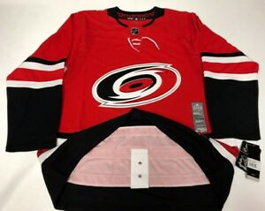 new concept d95c9 543b5 Details about CAROLINA HURRICANES size 60 = 3XL - ADIDAS NHL HOCKEY JERSEY  Climalite Authentic