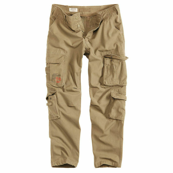 Surplus Pants AIRBORNE Slim Military Cargo Trousers Men Army Combat Coyote