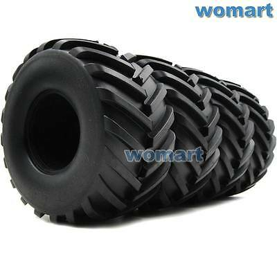 US Shipping 4pc 2.2 Truck Badland Monster Tires Fit RC 4WD Axial RPM 2.2'' Wheel
