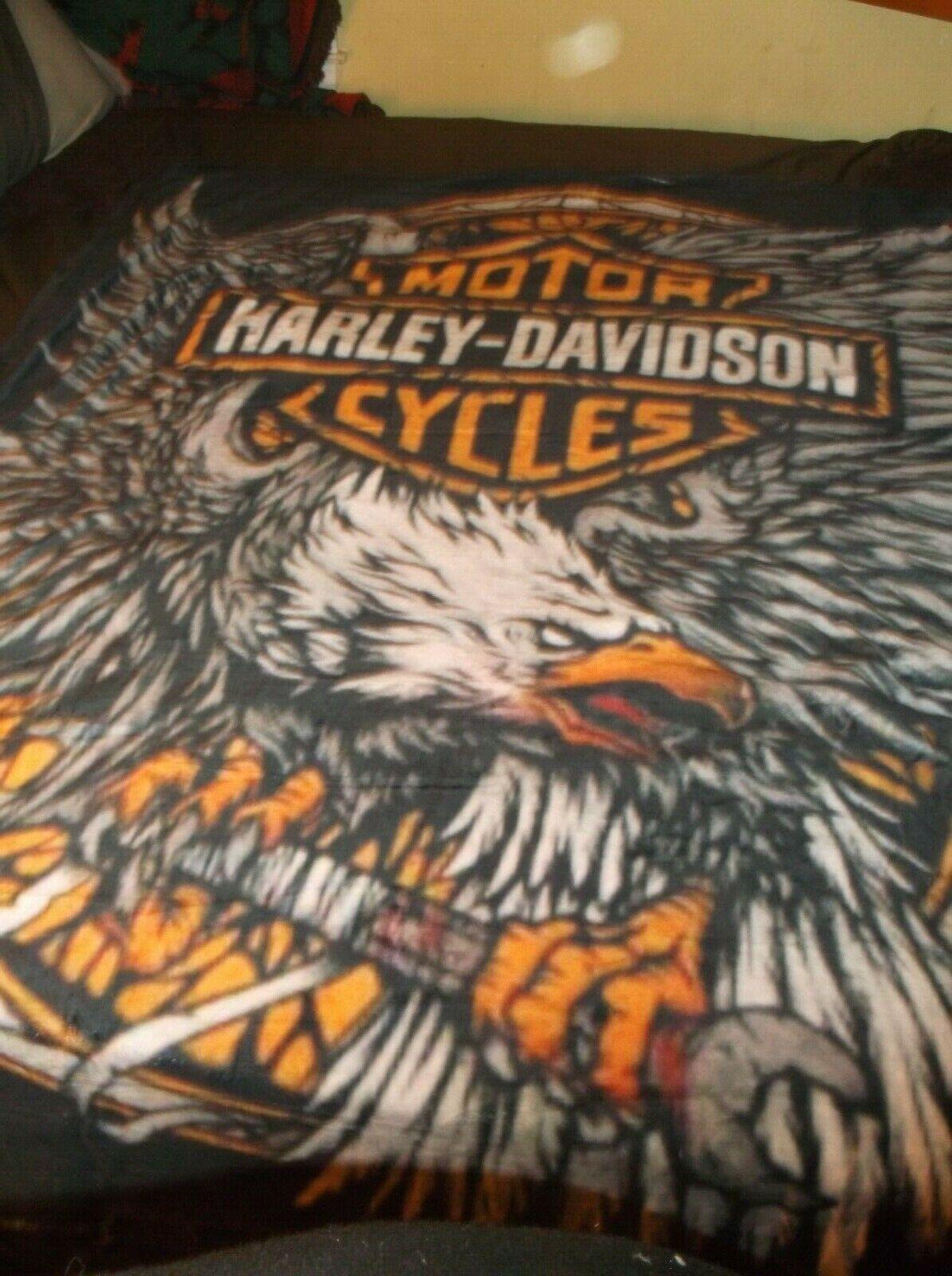 HARLEY DAVIDSON FLEECE BLANKET THROW,AVAIL QUEEN,PLUSH,WOVEN,sherpa,MANY PICS