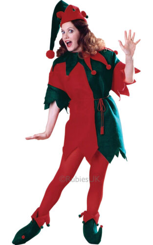 CHRISTMAS FANCY DRESS COSTUME ~ LADIES ELF TUNIC MED//LG