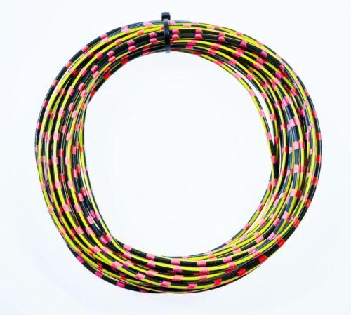 KFZ Kabel Fahrzeugleitung 1,5mm² 10m schwarz//gelb//pink Auto Pkw Lkw