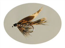12 Pack Trout Fly Wet March Brown Silver Size 10