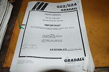 Gradall 522 524 Telescopic Forklift Material Handler Parts Manual Book Catalog