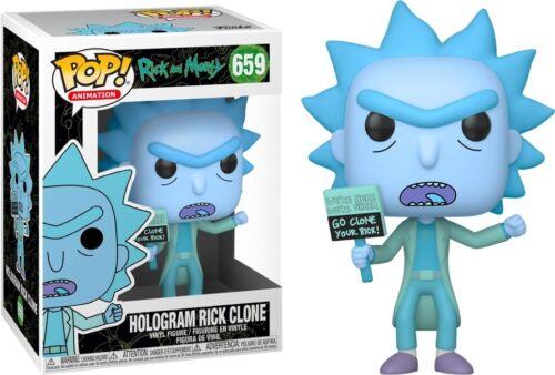 Rick /& Morty-Ologramma Rick CLONE FUNKO POP Figura in vinile #659