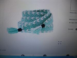 NWT-J-Crew-Women-039-s-Chevron-Tie-Sash-Cotton-Belt-Mint-Green-One-Size