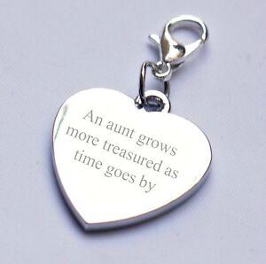 Ausdauernd Gravierbar Tante Herz Anhänger 2 Sides Gravur Jede Nachricht / Wortlaut Datum
