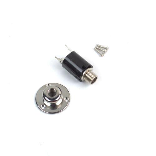 "General Acoustic Guitar End Pin Jack output Socket .1//4"" Mono Nickel"