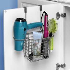 Over The Door Styling Caddy Bathroom Storage Clutter Organizer Hair Brush  Dryer