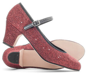 Ladies Red Glitter Dorothy Wizard Of Oz