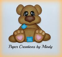 Craftecafe Mindy Baby Bear boy girl premade paper piecing for scrapbook page C12