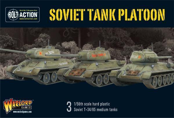 Bolt Action WWII Soviet Soviet Soviet Tank Platoon box plastic Warlord Games  100% a estrenar con calidad original.