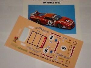 FERRARI-512-BB-DAYTONA-1982-BUDWEISER-DECALS-1-43-NEW
