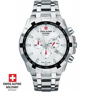 Swiss-Alpine-Military-by-Grovana-7043-9132-Chrono-Armband-Uhr-Herren-NEU