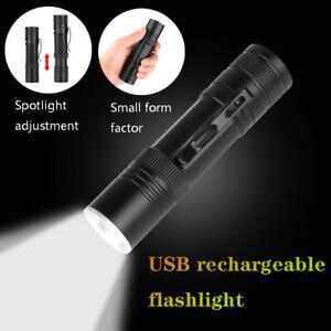 Super-Bright-XHP50-USB-LED-Flashlight-Torch-18650-26650-Outdoor-Telescopic-Lamp