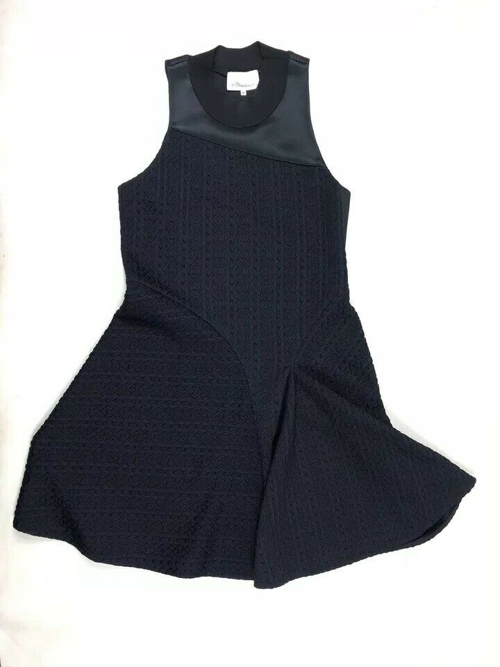3.1 Phillip Lim damen Sleeveless Crew Neck A Line schwarz Blau Dress Größe Medium