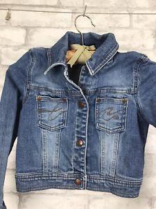 SONOMA Girls Blue Denim Jean Jacket, With Snaps Size 6X