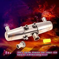 18001P Upgrade Dual Exhaust Joint Tubing for 1/8 HPI Nitro Savage 4.6 5.9 O1V9