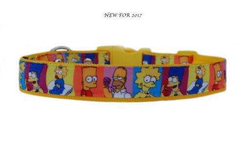 """/""""Amarillo/"""" Los Simpson /""""mediano grande Collar de Perro /& conjunto plomo o"""