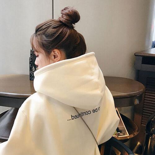 Women Harajuku Hoodie Loose Sweatshirt Long Sleeve Tops Hooded Pullover SoWKSPDE