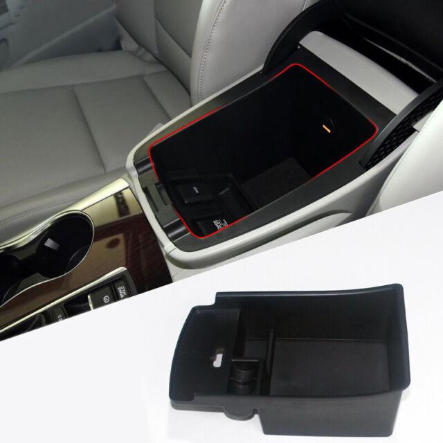 Black Interior Car Armrest Storage Organizer Box For Acura