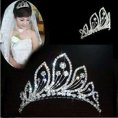 Stunning Bridal Rhinestone Peacock Pattern Crown Hair Comb Pin Tiara