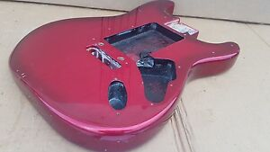 1996 Fender Stratocaster Usa Body Métallisé Redburst-afficher Le Titre D'origine