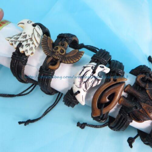 US SELLER 25 pcs hippie gothic punk bracelet wholesale jewelry bulk lot