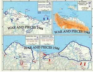 Details about 1:6 SCALE WW II PACIFIC WAR MAP SET