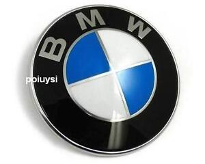 neu bmw emblem logo motorhaube 82mm plakette fur e30 e34. Black Bedroom Furniture Sets. Home Design Ideas
