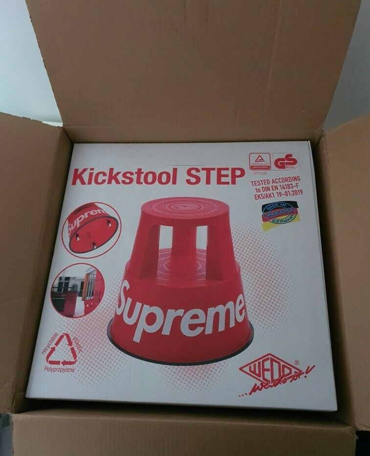 New and unopened FW20 Supreme x Wedo step stool red