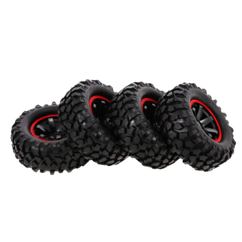 """96mm Rubber Tires Tyres 1.9/"""" Wheels for 1//10 RC Rock Crawler Buggy Car Part"""