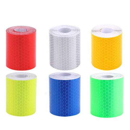 1m*5cm Car Reflective Self-adhesive Safety Warning Tape Roll Film Sticke DRF