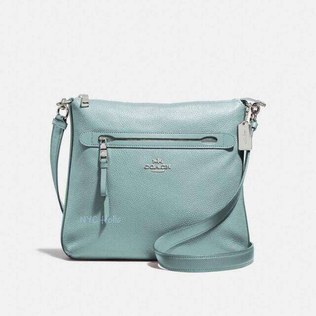 9438cee7ea Coach F34823 Mae Crossbody Pebble Leather Bag Cloud for sale online ...